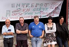 Salvador, Didier, Cypriaque, Rosa-Marie et Mauricette expliquent leur revendication