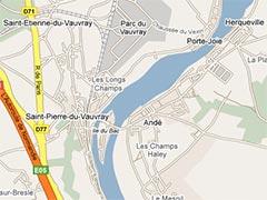 Herqueville, Andé, Saint-Pierre du Vauvray et Saint-Etienne du Vauvray.