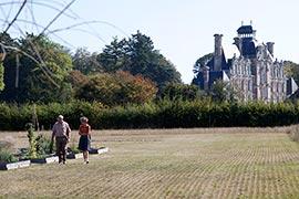 Et c'est aux pieds du château que nous commençons la visite du potager conservatoire.