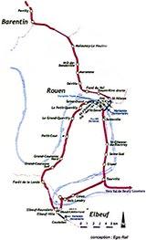 un maillage du territoire avec un croisement de futures lignes de tram-train, de lignes régionales comme celle de Rouen-Evreux, et de lignes nationales