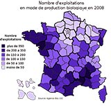 nombre d'exploitations bio en 2008