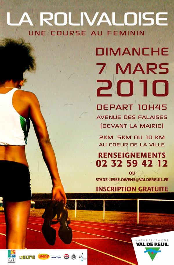 La Rolivaloise : une course au féminin à Val-de-Reuil le dimanche 7 mars 2010