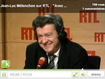 Mélanchon sur RTL, au micro de Jean-Michel Apathie, met les pieds dans le plat sur les retraites des fonctionnaires