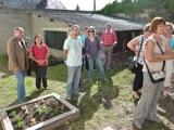 inauguration de l'ENR - Et en plus, le soleil est au rendez-vous pour la visite du jardin.