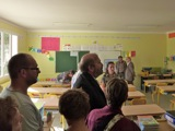 inauguration de l'ENR - pour aller inaugurer la nouvelle classe des CE1/CE2. Encore bravo à Dominique Gérard et Patrick Chemin pour cette réalisation.