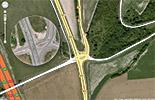 Un carrefour accidentogéne, et totalement inadapté au trafic routier actuel sur la RD6015
