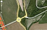 Voici une projection du nouveau rond-point sur la RD6015, entre Saint Pierre du Vauvray et Louviers. Il comblera les failles de sécurité existantes. Bien qu'il existe encore une intersection entre la D77, en direction de Sain Etienne du Vauvray et du Vaudreuil, et la route de Paris qui conduit à Saint Pierre du Vauvray, Andé,...