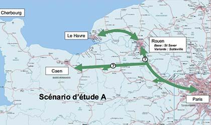 Le scénario intermédiaire -Y à Seine-Eure, nouvelle gare à Bernay - intéresse particulièrement le CG27, car il solutionne la desserte Rouen-Evreux, sans toucher à la vallée de l'Iton.