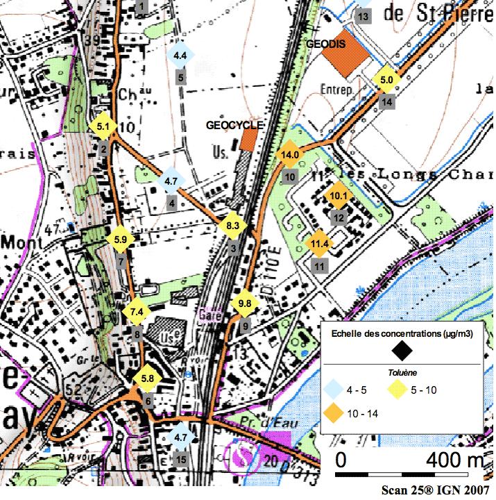 Une enquête Air Normand : Mesures de composés organiques volatiles autour du site Geocycle de St Etienne du Vauvray