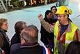 Opération portes ouvertes à l'usine M-Real d'Alizay, le 29 octobre 2011
