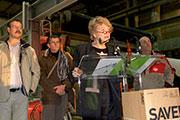 Eva Joly visite l'usine M-Real d'Alizay pour y défendre l'emploi