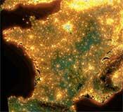 La France vue du ciel la nuit. Comment faire des économies d'énergie la nuit ? La réponse est lumineuse.