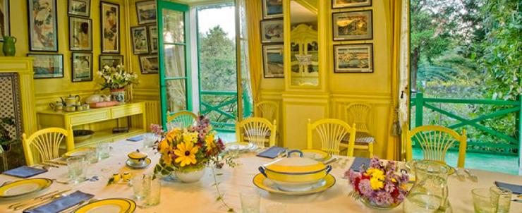 la salle à manger de la maison de Claude Monet -giverny