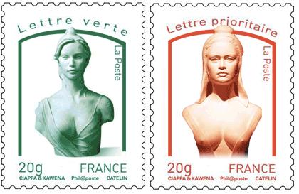 Du buste officiel, Laetitia Casta et Brigitte Barjot - la vraie - est-ce que ce ne serait pas un peu trop visiblement altier ?