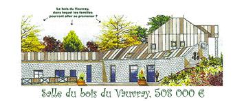 la salle du bois du vauvray, version officielle à 508 000 euros. Avec son magnifique massif floral