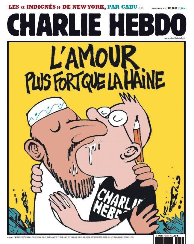 Des connards, des barbares tentent d'assassiner la liberté d'expression. Ils ont tué Charlie.