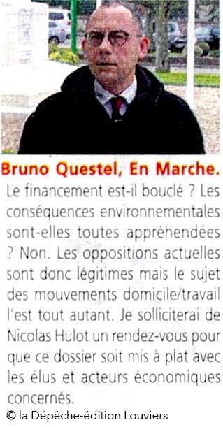 Bruno Questel, la République en Marche, dans la Dépêche du 26 mai 2017