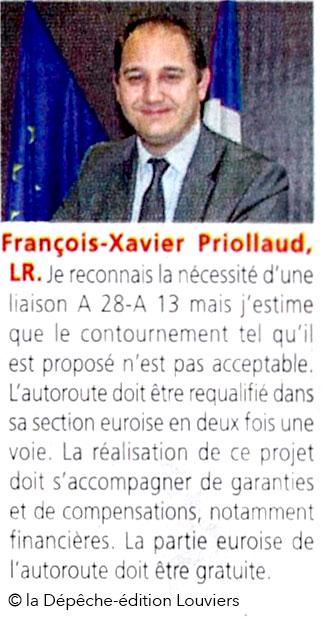 François-Xavier Priollaud, UDI, dans la Dépêche du 26 mai 2017